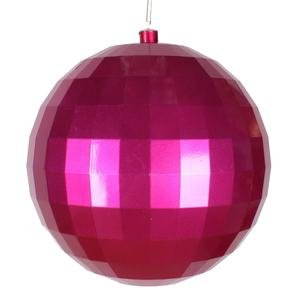 Vickerman 10″ Cerise Candy Finish Mirror Ball Christmas Ornament