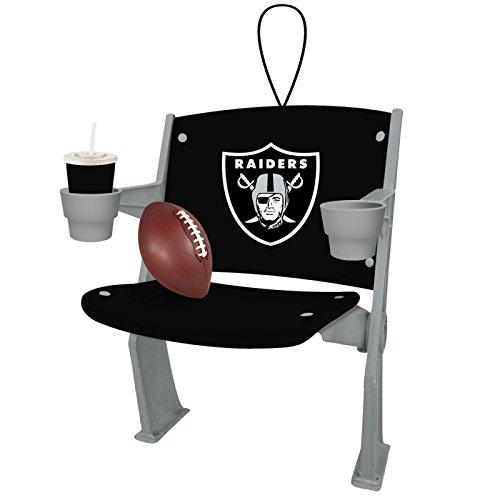 Team Sports America Oakland Raiders Stadium Chair Ornament, Set of 4