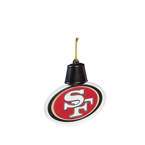 Team Sports America San Francisco 49ers Radiant Lit Acrylic Team Icon Ornament, Set of 2