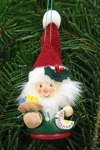 Christian Ulbricht Tree Ornament – Teeter Man Santa Claus – 12,5 cm / 3 inch