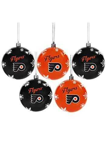 Forever Collectibles Philadelphia Flyers 5 Pack Shatterproof Ball Ornament Set Standard