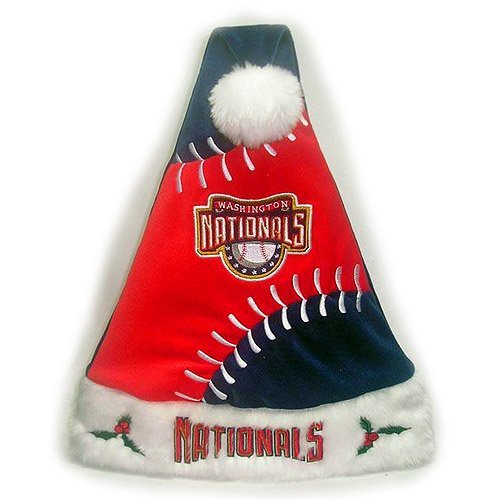 Forever Collectibles Washington Nationals Colorblock Santa Hat