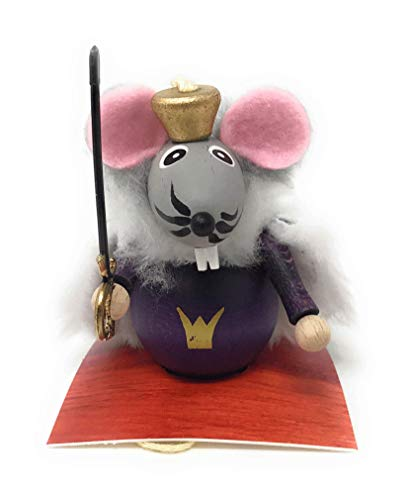Steinbach Mouse King with Sword Wood Christmas Ornament