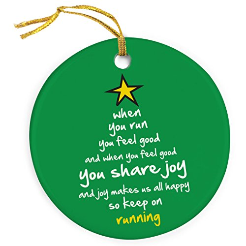Gone For a Run When You Run Christmas Tree Ornament | Running Porcelain Ornaments
