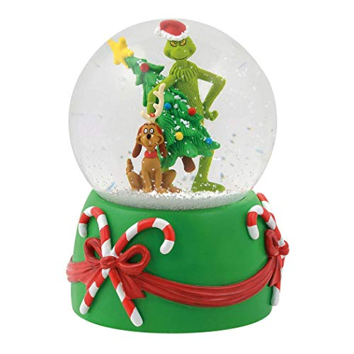 Department 56 Grinch Stealing Tree Musical Waterball, 5.5″ Snowglobe, Multicolor
