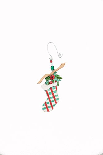 Glory Haus 21100111 Stocking Flat Ornament, Multicolor