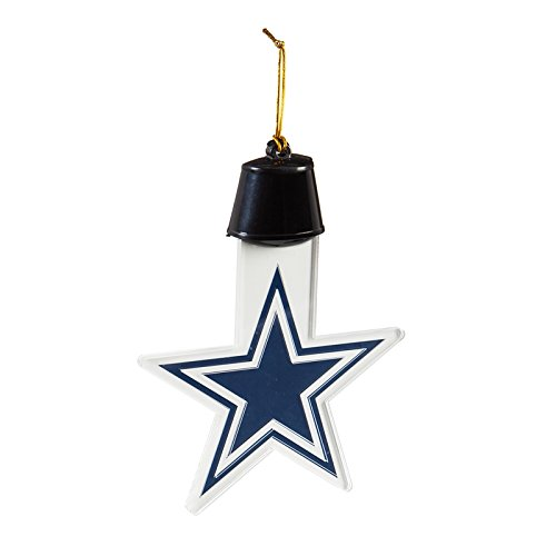 Team Sports America Dallas Cowboys Radiant Lit Acrylic Team Icon Ornament, Set of 4