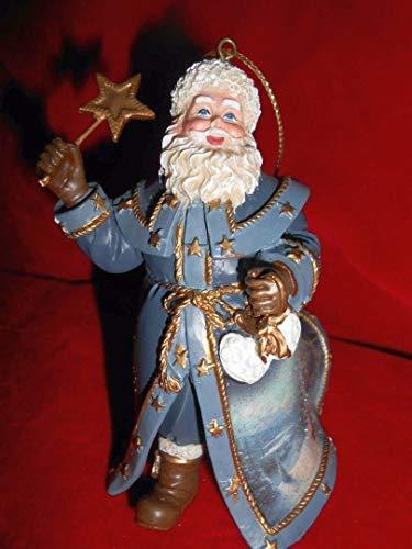 Thomas Kinkade Beckoning Lights of Twilight Old World Santa Ornament