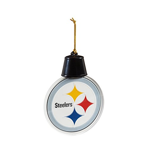 Team Sports America Pittsburgh Steelers Radiant Lit Acrylic Team Icon Ornament, Set of 2