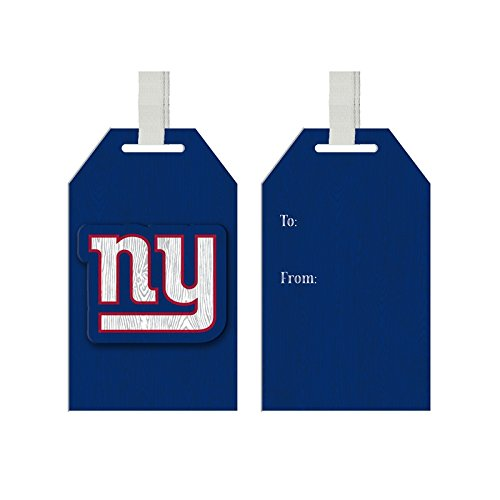 Team Sports America New York Giants Team Logo Gift Tag Ornament, Set of 4