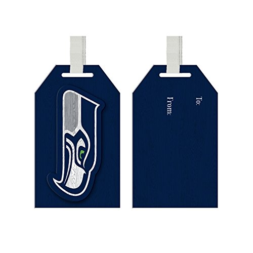 Team Sports America Seattle Seahawks Team Logo Gift Tag Ornament, Set of 4