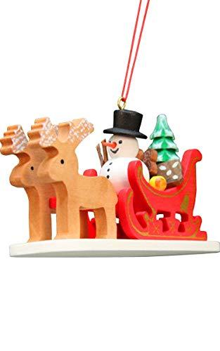 Alexander Taron 10-0635 Christian Ulbricht Ornament-Snowman Sled-4″ H x 2.25″ W x 1.5″ D, Brown