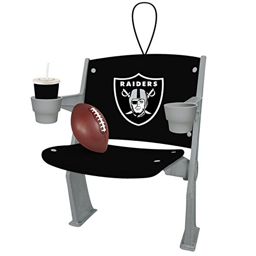 Team Sports America Oakland Raiders Stadium Chair Ornament, Set of 2