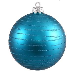 Vickerman 475″ Turquoise Ball with Glitter 2 per Bag