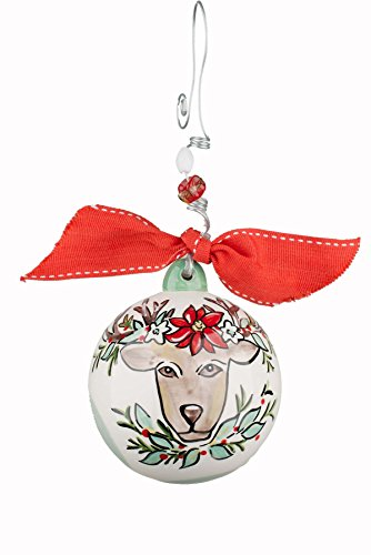 Glory Haus Reindeer Ball Ornament, 4″ x 4″, Multicolor
