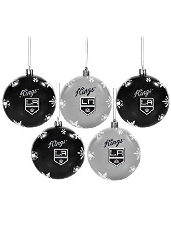 Forever Collectibles Los Angeles Kings 5 Pack Shatterproof Ball Ornament Set Standard