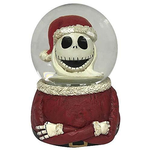 Nightmare Before Christmas Disney Santa Jack Bust Musical Waterglobe Snowglobe