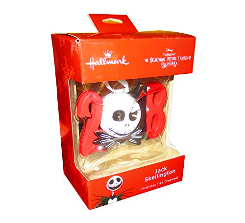 The Nightmare Before Christmas Jack Skellington Head 2018 Hallmark Christmas Tree Ornament – Disney's Walgreens Exclusive