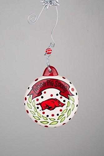 Glory Haus Collegiate Puff Ornament (Arkansas)