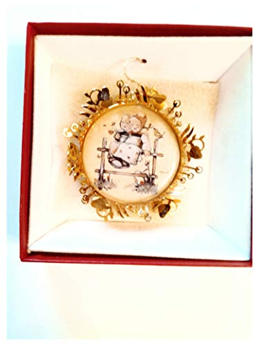 1986 Hummel Gold Coquetts Christmas Ornament