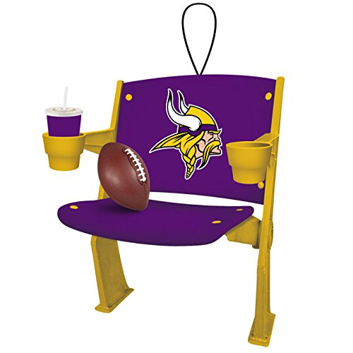 Team Sports America Stadium Chair Ornament, Minnesota Vikings, Set of 4