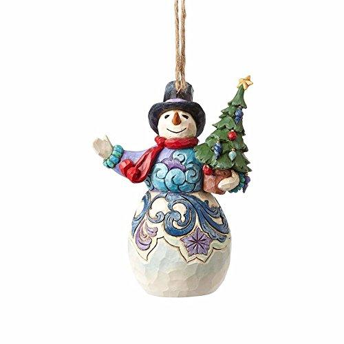 Enesco Snowman Holding Tree Ornament, Multicolor