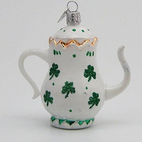 Kurt Adler Irish Teapot – Blown Glass Ornament