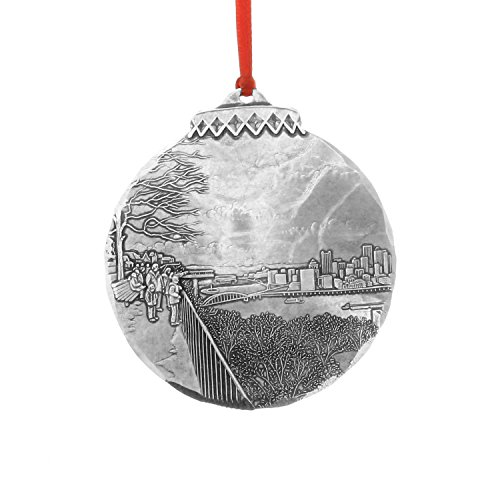 Wendell August Pittsburgh Collection – Pittsburgh's Grand View Ornament – Great Gift for Pittsburgh Fans, Residents, Or Your Own Christmas Tree – Hand-Hammered Aluminum Holiday Ornament