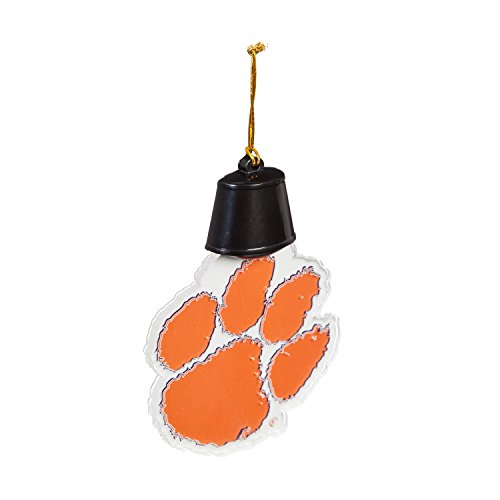 Team Sports America Clemson University Radiant Lit Acrylic Team Icon Ornament