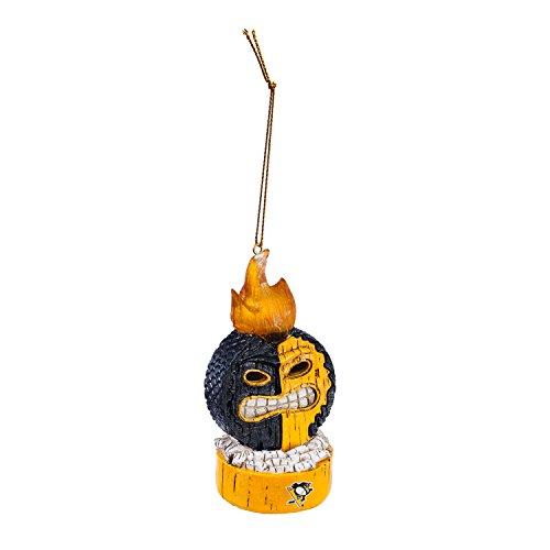 Team Sports America Pittsburgh Penguins Lit Team Tiki Ball Ornament