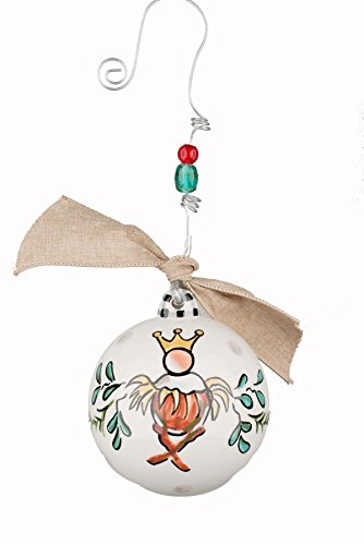 Glory Haus 4 x 4 Happy Birthday Baby Jesus Ball Ornament, Multicolor