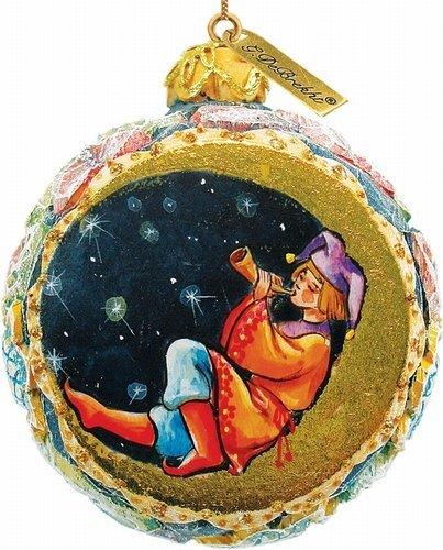 G.DEBREKHT / RUSSIAN GIFT Lullaby Ornament – Russian Hand Crafted Hand Painted Folk Art 62281-2-GDB