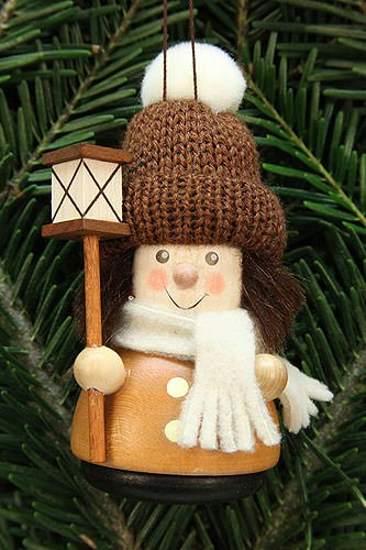 Tree Ornament – Teeter Man Lantern Boy, Natural – 9,5 cm / 3.7 inch