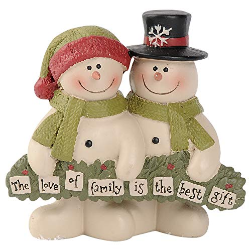 Blossom Bucket 188-11911 Love of Family is The Best Gift Snow Couple Figurine