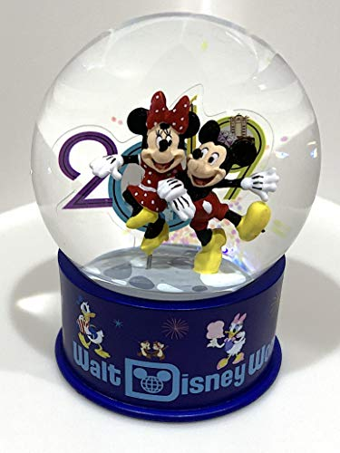 Walt Disney World 2019 Mickey Minnie Mouse Glass Snowglobe