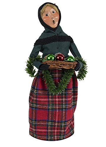Byers' Choice Glass Ornament Woman Caroler Figurine from The Christmas Market Collection #4471D (New 2019)