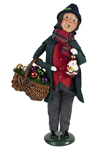 Byers' Choice Glass Ornament Man Caroler Figurine from The Christmas Market Collection #4472D (New 2019)