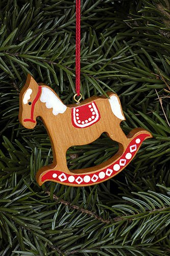 Tree Ornament – Ginger Bread Horse Gross Brown – 6,2×6,5 cm / 2.4×2.5 inch