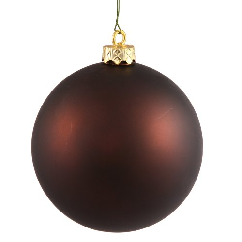 Vickerman 10″ Chocolate Matte Ball Ornament