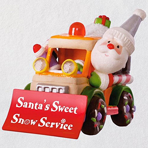 Hallmark Keepsake Christmas Ornament 2018 Year Dated, Santa's Sweet Snow Plow with Music and Light