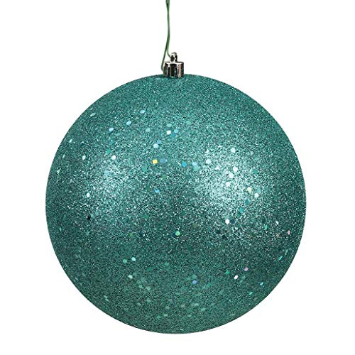 Vickerman 572535-4.75″ Teal Sequin Ball Christmas Tree Ornament (4 pack) (N591242DQ)