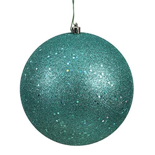 Vickerman 572535-4.75″ Teal Sequin Ball Christmas Tree Ornament (4 pack) (N591242DQ)