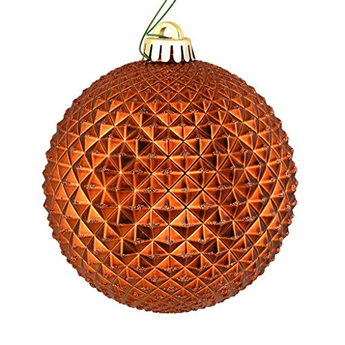 Vickerman 573303-6″ Copper Durian Glitter Ball Christmas Tree Ornament (4 pack) (N188788D)