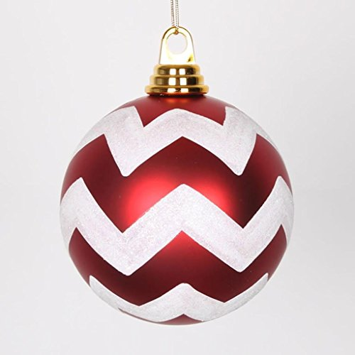 Vickerman Chevron Ball Ornament