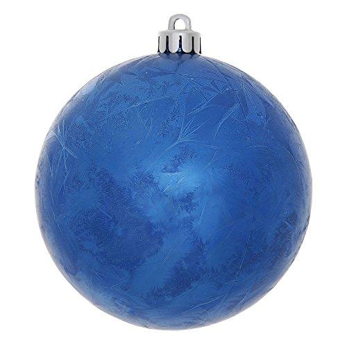 Vickerman 4″ Blue Crackle Ball UV Ornament 6 per Bag