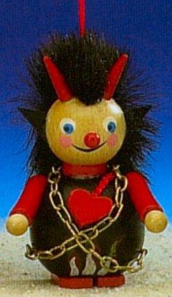 Steinbach Halloween Devil Wood Ornament