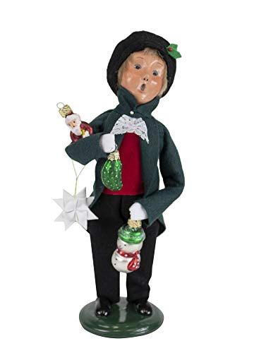 Byers' Choice Glass Ornament Boy Caroler Figurine from The Christmas Market Collection #4474D (New 2019)
