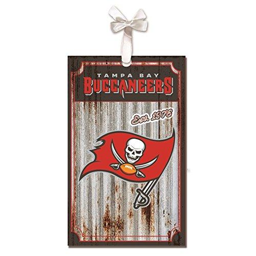 Team Sports America Tampa Bay Buccaneers, Metal Corrugate Ornament, Set of 2