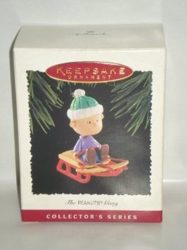 Hallmark Linus on sled ornament 1995