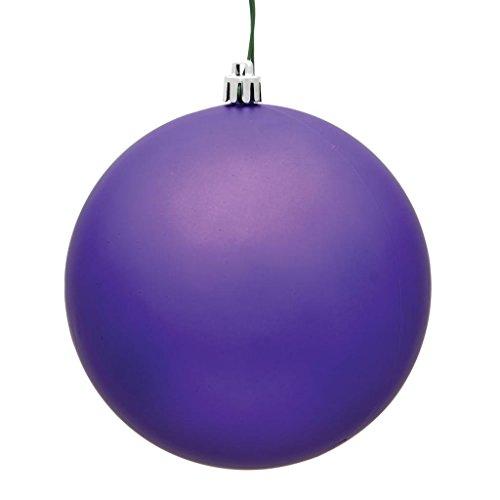 Vickerman 489901-2.4 Purple Matte Ball Christmas Tree Ornament (60 pack) (N596066M)